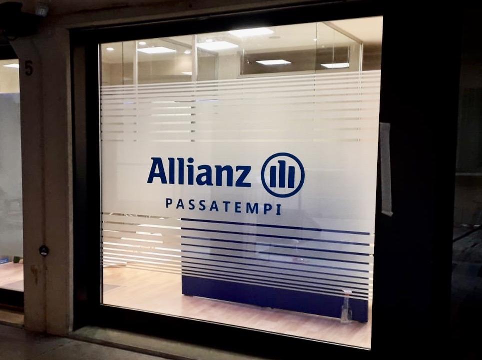 Vetrofania Allianz Passatempi